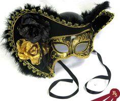 Venetian Pirate Skull Half Mask Hat caribbean ghost costume masquerade halloween