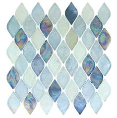 Supplier: Tile Store Online, Name: Aquatica Color: Atlantis, Type: Rhomboid Diamond Oval Glass Mosaic Tile, Size: mosaik, Aquatica Glass - Atlantis - Rhomboid Diamond Oval Glass Tile Mosaic - Iridescent Mosaic Bathroom, Glass Mosaic Tiles, Mosaic Backsplash, Kitchen Backsplash, Master Bathroom, Kitchen Island, Coral Bathroom, Kitchen Cabinets, Cement Tiles