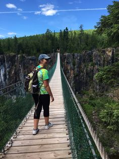 Visit Eagle Canyon near Thunder Bay and experience Canada's longest suspension bridge and Canada's longest zip line!