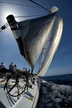 """Titan, somewhere off Anguilla/""""For one thing, I was no longer alone; a man is never alone with the wind-and the boat made three."""" – Hilaire Belloc"""