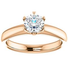 Rose Gold Engagement Ring    JR Jewelers  $510