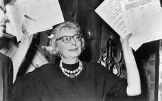 Jane Jacobs, chairman of the Comm. to save the West Village holds up documentary evidence at press conference at Lions Head Restaurant at Hudson & Charles Sts, ew York World-Telegram and the Sun Newspaper Photograph Collection. Promenade Architecturale, Jane Jacobs, Great Women, Construction, Urban Planning, Lower Manhattan, Iron Age, Powerful Women, Looking For Women
