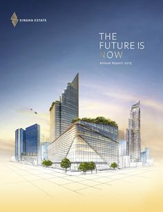 """Cover of """"S : Annual Report 2015 Real Estate Advertising, Real Estate Ads, Real Estate Flyers, Advert Design, Ad Design, Advertising Design, Report Design, Property Ad, Property Design"""