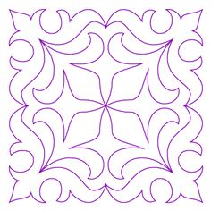 Morning Lily Block 4 - Digital - Quilts Complete - Continuous Line Quilting Patterns