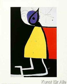 Joan Miró - Dona en la nit, 1973
