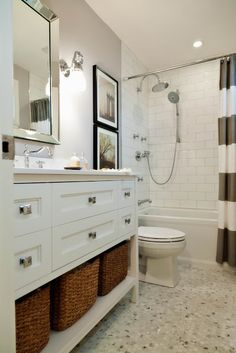 i like the showerhead, moveable head, and faucet . decor happy: Client Project: Bathroom Reno http://decorhappy.blogspot.ca/2011/10/client-project-bathroom-reno.html