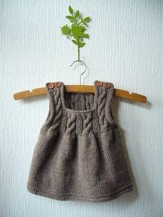 25 Trendy ideas for crochet baby sweater girl ideas Baby Knitting Patterns, Knitting For Kids, Crochet For Kids, Baby Patterns, Crochet Baby, Girls Knitted Dress, Knit Baby Dress, Baby Sweaters, Girls Sweaters