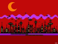 Alien City by ManDalla, via Flickr