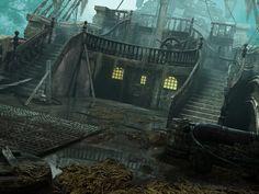 Pirate Ship Main by postrk.deviantart.com on @DeviantArt