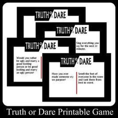 Teen Truth or Dare Questions Suggestions and Games teen partys