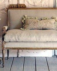 Vintage French Louis XVI Love Seat.