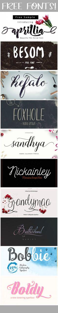 10 Free Pretty Fonts