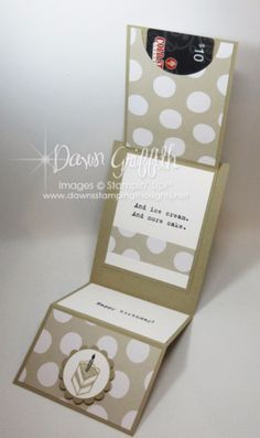 Time to Celebrate Fun Z Fold card Crumb Cake and Its my party DSP opened Dawn Griffith Stampin'Up! order items from Occasions catalog