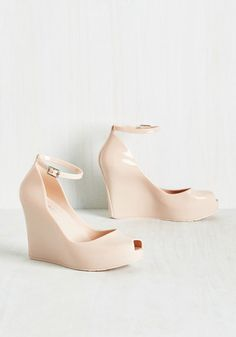 Rush of Bold Wedge in Beige, @ModCloth