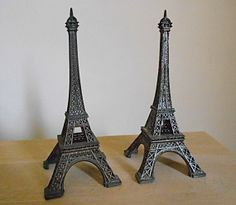 Set of 2 Metal Eiffel Towers  Souvenir from Paris by OldVarieties, $19.00