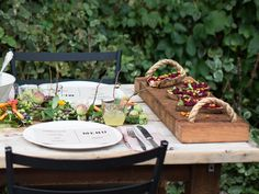 Auntie Oti Colored Napkins and Antique Flatware | Garden Party Menu and Decor Ideas | Everywhere