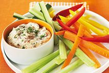 Syns per serving: Green: FREE Extra Easy: FREE  Recipe: ihttp://www.slimmingworld.ie/recipes/houmous-dip.aspx