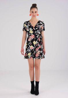 New Look RUFFLE FRONT DRESS - Sukienka letnia - black - Zalando.pl