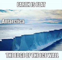 The ice wall is hundreds of feet tall and goes all the way around the flat earth. It holds all the water in and protects the edges of the firmament Repost @flatearthtshirtco Follow for great content! by @crystallamb7 via http://ift.tt/1RAKbXL