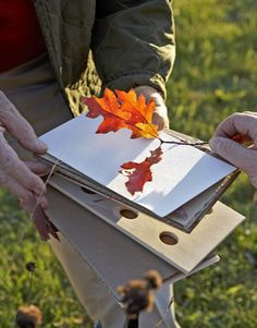 How to press leaves for framing and home decorating. Especially if your kids pick them! Great for fall parties. Go on a nature parade and pick leaves, and kids can take home framed leaf prints!