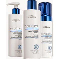 Serioxyl  o tratamento revolucionário da Loreal que promete com uso diário acelerar o nascimento e crescimento do cabelo e dar instantaneamente mais volume e corpo aos fios ralos e finos.