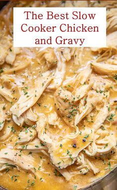 Here's The Best Slow Cooker Chicken and Gravy Recipe. It's slow cooker chicken is easy and delicious recipe. Here's The Best Slow Cooker Chicken and Gravy Recipe. It's slow cooker chicken is easy and delicious recipe. Slow Cooker Huhn, Best Slow Cooker, Crock Pot Slow Cooker, Crock Pot Cooking, Slow Cooker Meat Recipes, Slow Cooker Dinners, Slow Cooker Turkey, Slow Cooker Kitchen, Slow Cooker Appetizers