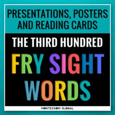 The Third Hundred Fry Sight Words divided into 4 lists of 25 words each. The product includes 4 Digital Flashcard PowerPoint Presentations, 4 printable ledger size posters and printable reading cards. Ideal for remote, hybrid and in person teaching. Use the PowerPoint presentations for daily practic... Fry Sight Words, Improve Vocabulary, Sight Words Printables, Powerpoint Presentations, Flashcard, Reading Fluency, Card Reading, Third, Remote