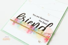 16 March 2018 | Sprinkled with Glitter | Rainbow Inked Vellum Overlay - Quick And Easy Friendship Card |