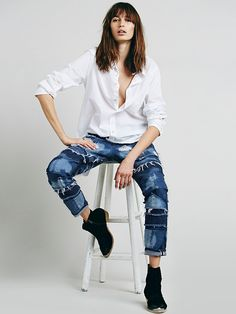 Free People Patched Straight Leg, $398.00