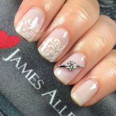 Diamonds are a bride's best friend, whether they are on your finger on on your nails.  Preen Me VIP Chrissy received this extraordinary Nail Jewel from www.JamesAllen.com as a gift. #PutARingOnIt