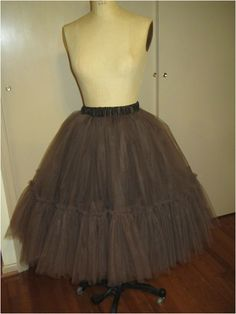 how to make a tulle skirt or petticoat