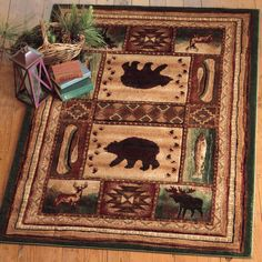 Bear Wilderness Rug - 8 x 10