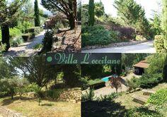 Pèle-mêle de photographies de notre chemin privée menant à la Villa L'occitane ainsi que ses jolies restanques arborées. ☼ #villaloccitane #Poujols #vacances