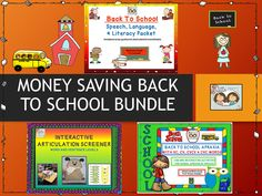 Back to School Money Saving Bundle For Speech, Language & Literacy Based Sessions!