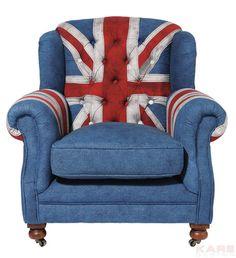 Sessel Grandfather Union Jack