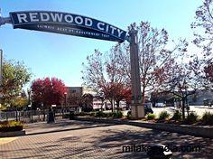 Redwood City, California near Caltrain Train Station Redwood City California, Train Station, San Francisco, Sidewalk, Spaces, Sidewalks, Pavement, Walkways
