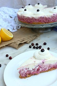 Dreading turning on your oven? No bake Saskatoon berry cheesecake to the rescue! Make this easy summer dessert recipe when you need a fancy cake with fresh summer berries. #saskatoonberries #saskatoonberry #saskatoonberryrecipes #summerbirries #cheesecake #nobakecheesecake #summerdesserts #sweettreats