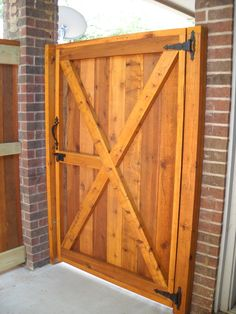 We recently built this custom fence and gate for a private sitting area off of a master bedroom.