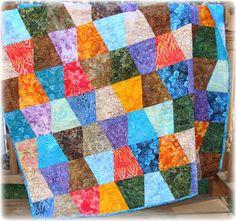 Batiks Tumbler Quilt von CarleneWestberg auf Etsy