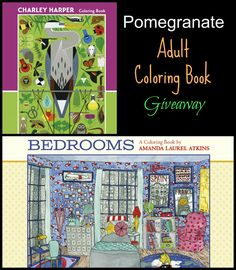 Pomegranate Communications adult coloring books giveaway 8/4/2016