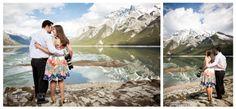Banff engagement, lifestyle portraits,Outdoor portrait, banff engagement photographer, couple portraits, Photographer's engagement session, Photographers engagement theme, Lake Minnewanka www.kimpayantphotography.com