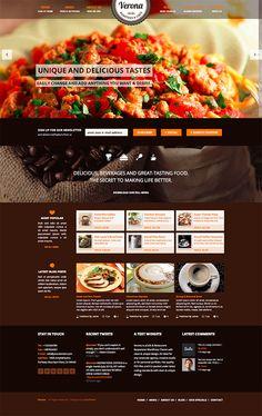 Verona, wordpress, web design, restaurant theme