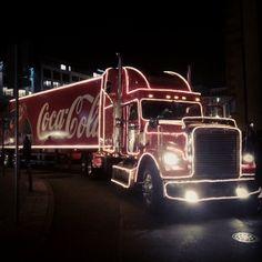 Coca-Cola Christmas truck sighting in Frankfurt, Germany. Instagram photo by @Satu Mäkinen