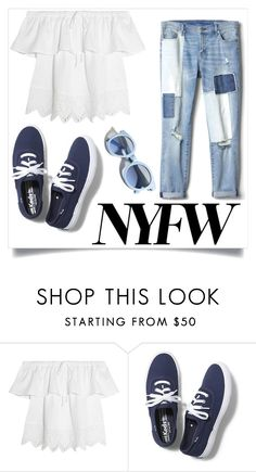 """nyc visits 🗽"" by yep-emma ❤ liked on Polyvore featuring Madewell, Keds and Pinko"