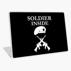 'Soldier Inside - ready for war - ' Laptop Skin by RIVEofficial Ipads, Laptop Skin, Iphone Wallet, Sell Your Art, Vinyl Decals, Laptops, Classic T Shirts, Phones, Vibrant Colors