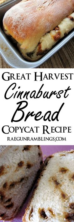 Hands down the best breakfast bread. Great Harvest style cinnaburst bread recipe at Rae Gun Ramblings