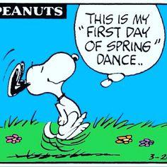 1st day of Spring! #firstdayofspring #rainingalready #maitlandfl #dance #snoopy #peanuts #springbreak #springishere #happydance