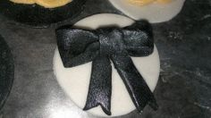Chanel Cupcake Toppers (bows)