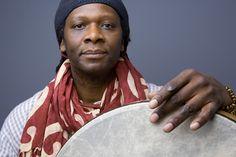 Hamid Drake, drummer; photographer, unknown.