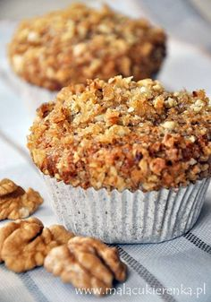 nuts and almond muffins made from wholemeal flour